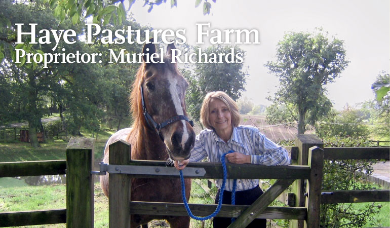 Haye Pastures Farm, Proprietor: Muriel Richards